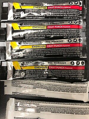 Beachbody Performance Energize Fruit Punch Flavor 30 Packets Expired 9/19