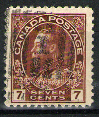 Canada  Scott  114  Seven Cent Brown     Used
