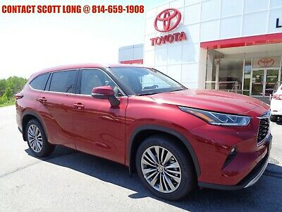 2020 Toyota Highlander 2020 Highlander Platinum 3.5L V6 AWD 2020 Toyota Highlander Platinum 3.5 V6 AWD Navigation Panoramic Sunroof Ruby Red
