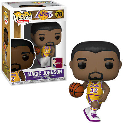 Funko Pop! Nba Basketball: Los Angeles Lakers - Magic Johnson 78 Vinyl In Stock