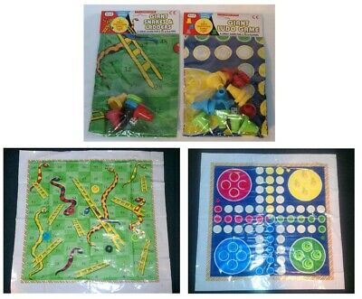 Snakes and Ladders & Ludo Mat Family Traditional Board Game SECONDS SCUFFED MATS