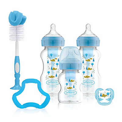 Dr Brown's Options+ Anti-Colic Baby Bottles Gift Set, Blue