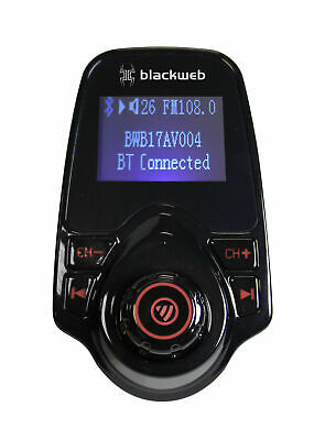 New Blackweb FM Transmitter with Bluetooth Wireless Technology