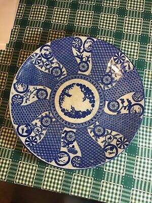Antique Japanese  or Chinese Blue & White Porcelain Charger