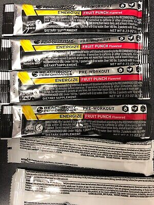 Beachbody Performance Energize Fruit Punch Flavor 20 Packets Expired 9/19