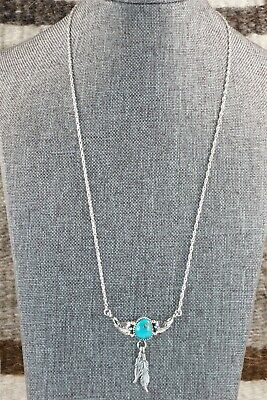Navajo Turquoise and Sterling Silver Necklace - Roger Pino