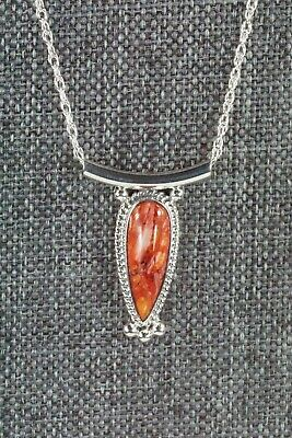 Navajo Spiny Oyster & Sterling Silver Necklace - Sharon McCarthy