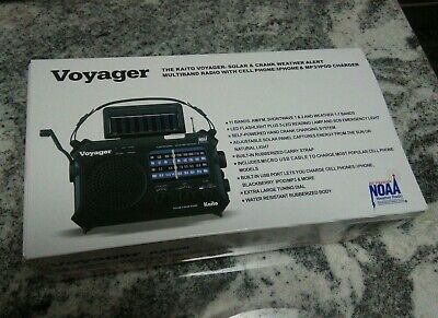 NEW Voyager Solar Crank KA500 Kaito Emergency Weather Radio - NOAA, Shortwave