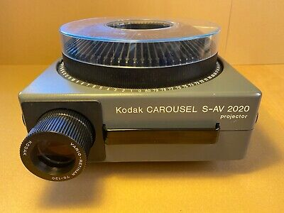 kodak carousel slide projector S-AV 2020 full working order, with original case