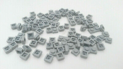 Used condition 10x Light Blue A026 Grey Lego 1 x 2 Flat Plates with rod end