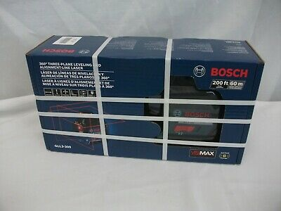 NEW SEALED Bosch Gll3-300 360 Degree 200ft Three Plane Leveling Line Laser