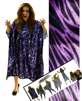 Hair Tools Purple Tiger Print Gown for salon