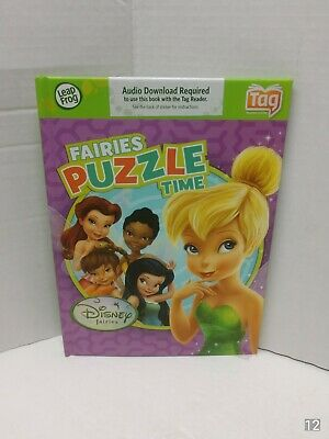 LeapFrog TAG & LeapReader Disney's Fairies PUZZLE Time Book