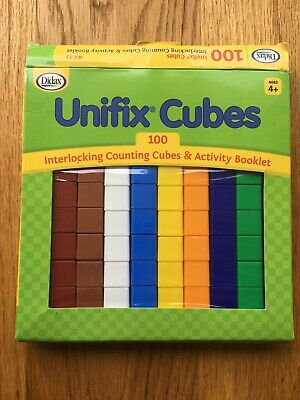 Didax Unifix Cubes 98 interlocking counting cubes. Missing 2 Cubes!