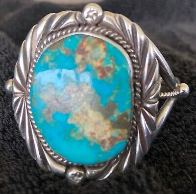 Another Gorgeous Sterling Pilot Mountain Turquoise Cuff Bracelet!!