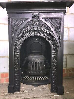 Antique Victorian Cast Iron Fireplace