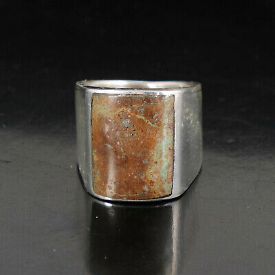 Turquoise Ring Vintage Style Silver Native American Jewelry Navajo Womens