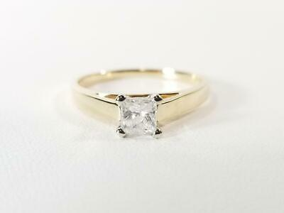 14K Yellow Gold 1/2 CTW Princess Diamond Solitaire Engagement Ring S (AM1048330)