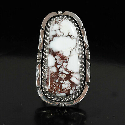 Wild Horse Ring Vintage Style Silver Native American Jewelry Navajo Large