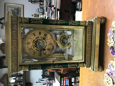 French crystal clock japy freres