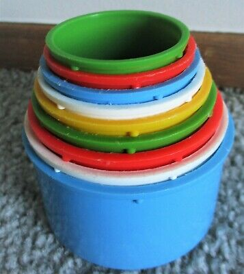 Vintage Toddler Stack and Count Cups Stackable Nesting Toy-Italy