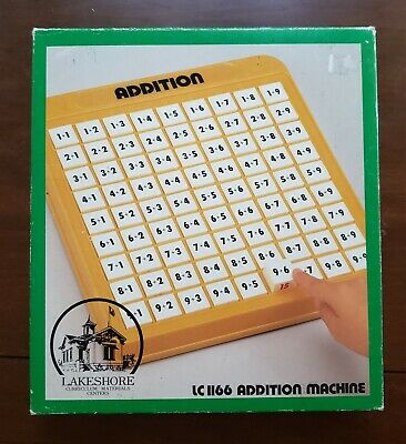 Lakeshore Addition Machine Homeschool Math Learning Tool Educational Toy Game