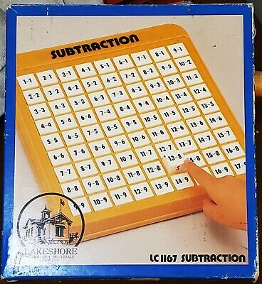 Lakeshore Subtraction Machine Homeschool Learning Tool Educational Toy Game +Box