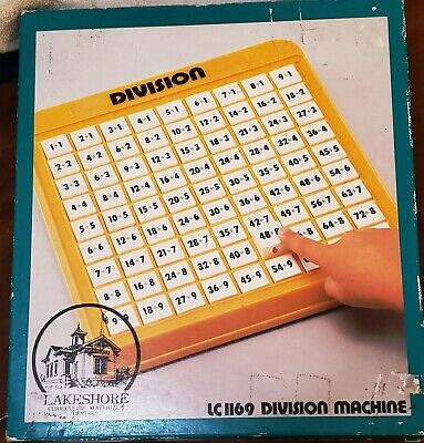 Lakeshore Division Machine Homeschool Math Learning Tool Educational Toy Game