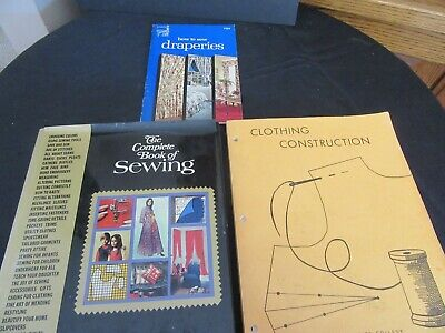 3 1970's Vintage Sewing Books