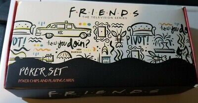 Friends The Television Series Poker Set Chips & Cards Culturefly NEW NEVER USED