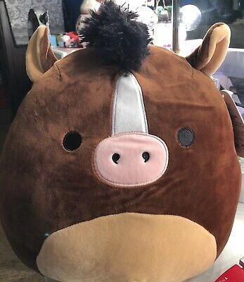 """NWT Squishmallows Kellytoy Summer 12"""" BRISBY the Horse Plush"""