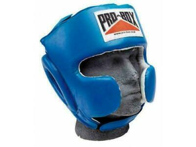 Black Pro Box Boxing Headguard Base Spar Senior PU Logo Training Sparring
