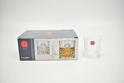 RCR Oasis 6x Crystal Whisky Glasses Italian Whiskey Drinking Cocktail Glasses