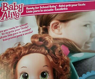 NIB READY FOR SCHOOL AFRO AMERICAN  BABY ALIVE DOLL