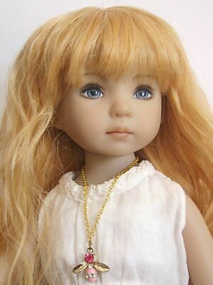"18//19cm Mixed brown Doll wig for Little Darling doll 13/"" Dianna Effner-sz7//8/"""