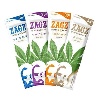 ZAGZ Variety Pack Hemp Wrap Rolling Paper 16 Pouches / 2 Per Pack