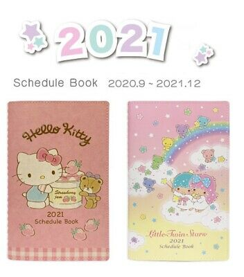2020-2021  Hello Kitty /& Teddy Pocket Planner Schedule Book Agenda PINK Bon...