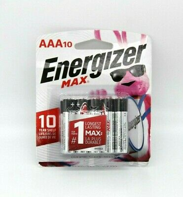 NEW Energizer E92CP-10 MAX Battery AAA 10 Pack