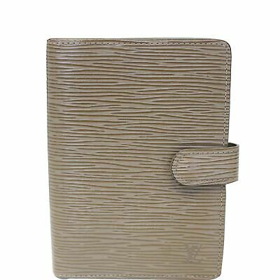 LOUIS VUITTON Agenda PM Epi Leather Day Planner Cover Taupe