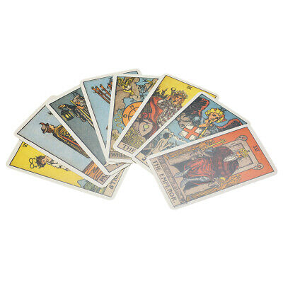 Tarot Cards Deck Vintage Antique Colorful Card Box Game 78 Cards