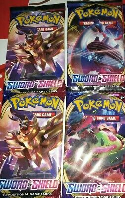 New /& Sealed Pokemon TCG 4x Booster Packs Sword and Shield Base Set