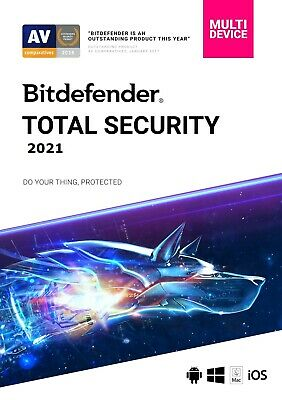 Bitdefender TOTAL SECURITY 2020, 5 Devices 1Year DOWNLOAD VERSION PC|Mac|Android