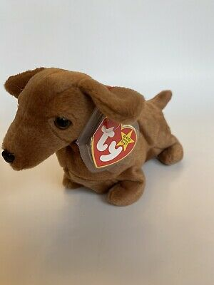 - MWMTs Stuffed Animal Toy TY Beanie Baby 7.5 inch LOVEY-DOVEY the Dog
