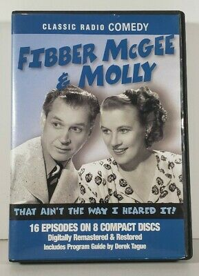Fibber McGee & Molly 8 CD discs Audio Radio Spirits Classic Old Time Comedy