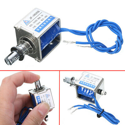 JF-S0837DL 10mm Stroke DC 24V 15N  With Automatic Reset Suction Solenoid 150g