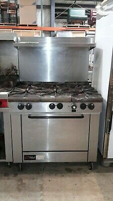 """Used Southbend X336D 36"""" Natural Gas 6 Burner with Standard Oven"""