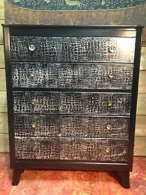 Stunning Upcycled Retro Chest Of Drawers / Lebus Chest