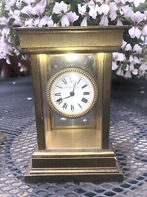 Vintage Matthew Norman London Brass Carriage Clock