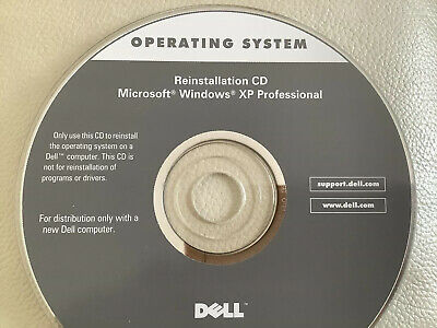 Dell Windows XP Professional Edition OS Restore Reinstallation CD Product Key