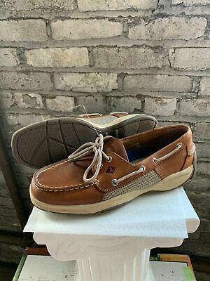 New Sperry Men's Intrepid 2 Eye Leather Top Sider Boat Shoes Casual - Pick Size
